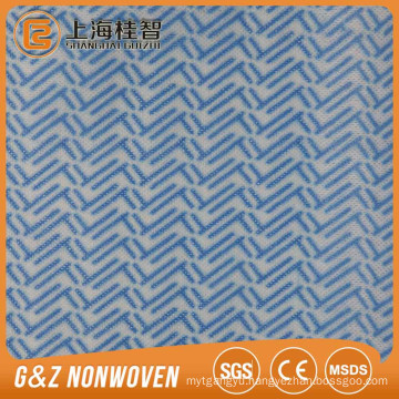 Supply Impregnated Wave Pattern Spunlace Nonwoven Fabric For Cleaning